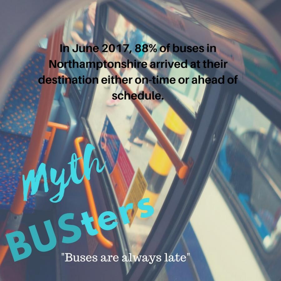 Mythbusters: Buses are late