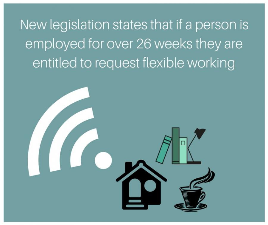New legislation states that if a person works over 26 weeks they are entitled to work remotely