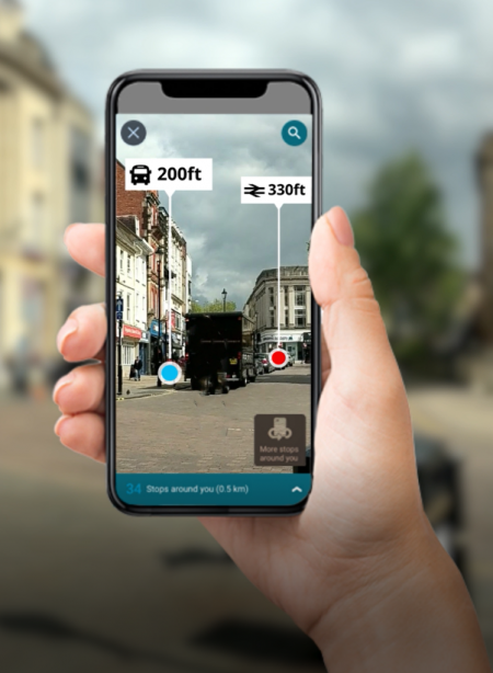 augmented reality bus stops