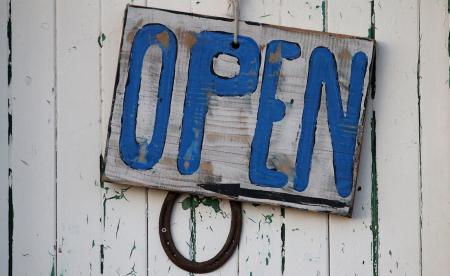 OPEN wooden vintage sign