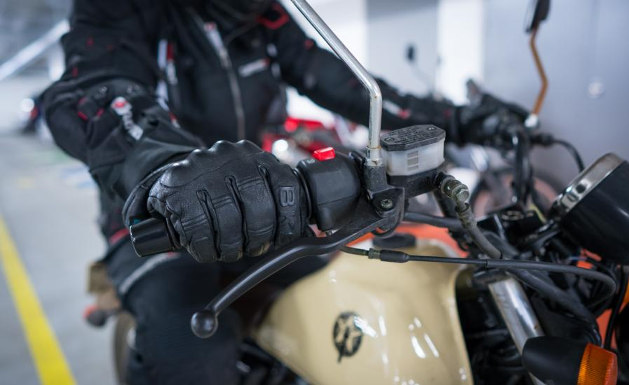 Motorcycle Glove Revving