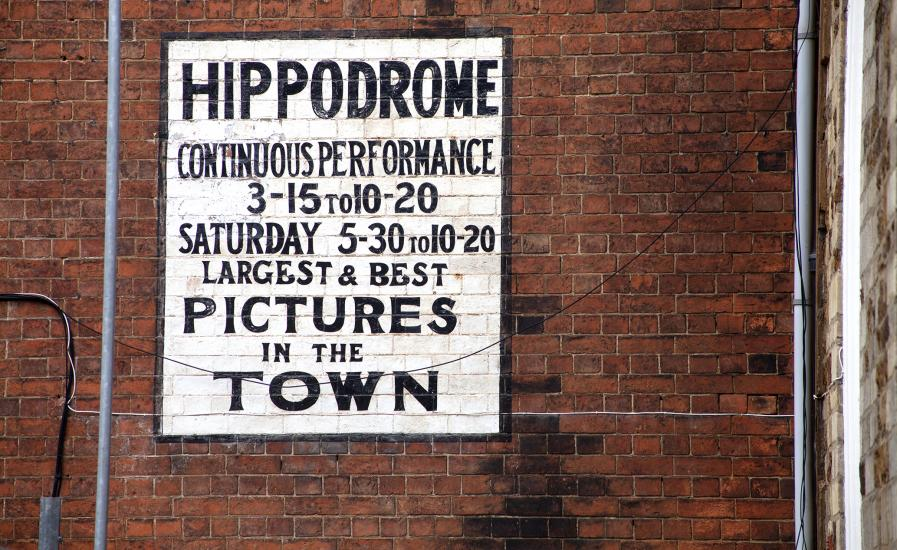 Hippodrome painted sign