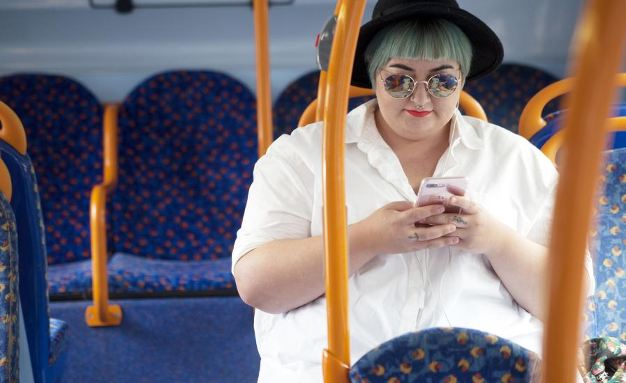 Lady on a bus