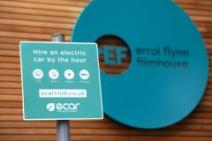 Electric Vehicle Charging Point outside the Errol Flynn Filmhouse