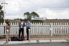 People at Wellingborough Railway Station