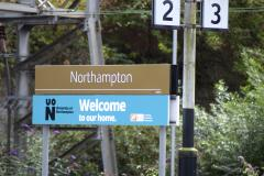 Northampton train station sign
