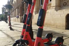 Voi e-scooters in Northampton town centre