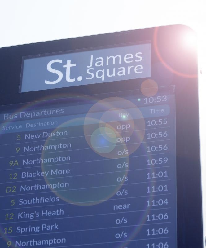 St James Square Totem Bus Times